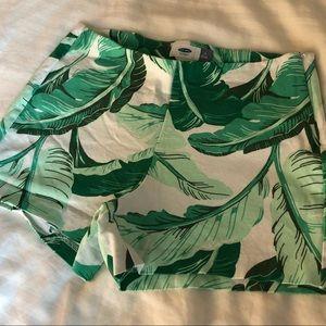 Banana Leaf Print Shorts